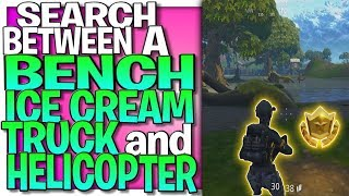 Search Between A Bench, Ice Cream Truck, And A Helicopter Hidden Star Location (Week 4 Star)