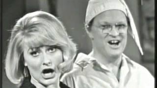 Monica Zetterlund och Povel Ramel år 1965