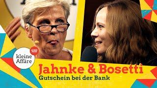 Gerburg Jahnke und Sarah Bosetti – Bosetti kauft Gutscheine