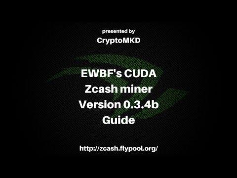 How to start mining with EWBF's CUDA Zcash miner 0 3 4b