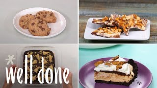 How to Make 5 Peanut Butter and Chocolate Recipes | Dessert Recipes | Well Done