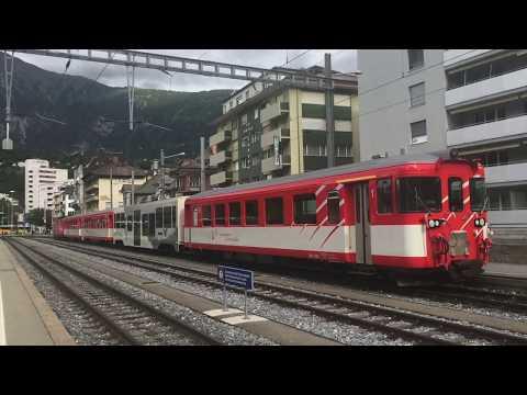 Trains à Brig / le 29 juin 2017 / Transports Publics Suisses