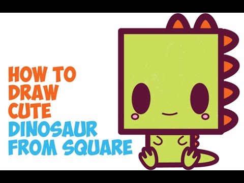 How To Draw Cute Dinosaurs Chibi Kawaii Cartoon Dinosaurs In Easy