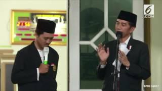 Keren... Santri ini nge beatbox di depan Presiden Jokowi