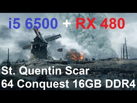 Battlefield 1 RX480 | i5-6500 | 16 GB DDR4 | DX12 St. Quentin Gameplay