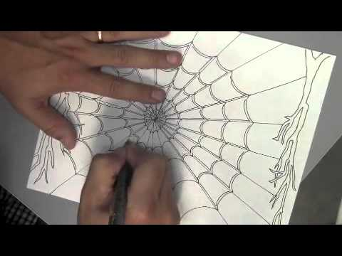 Drawing A Spider Web Youtube