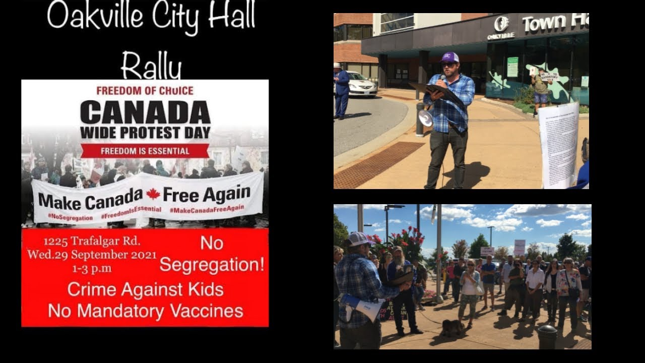 Freedom of Choice Canada Rally, Oakville Town Hall, JD Meaney Speech