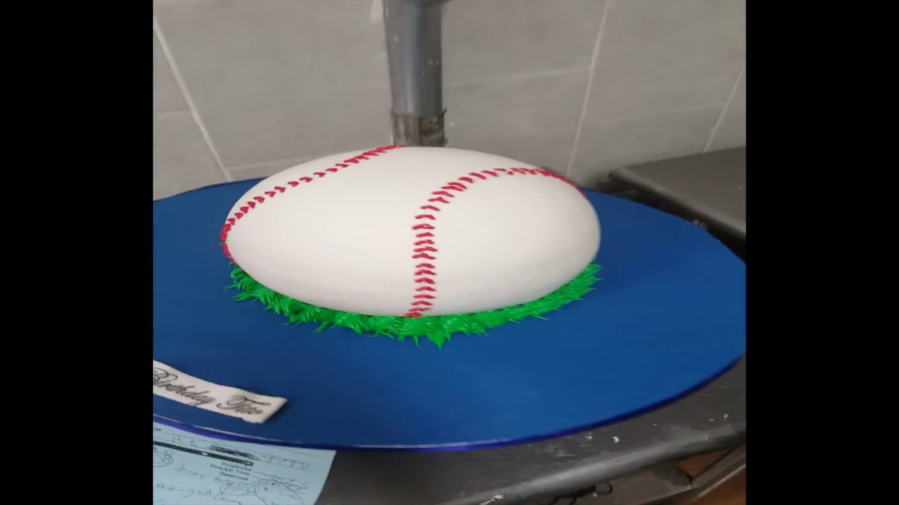 How To Make A Baseball Cake