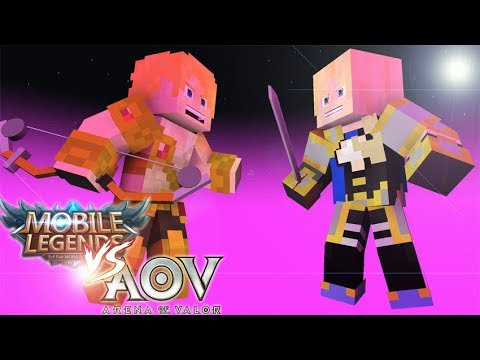 Mobile Legend Vs Aov Animasi Minecraft