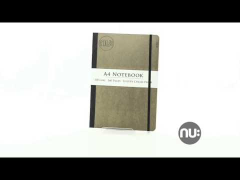 Nu Notebooks Nu Elite Kraft Manila Gluebound Notebook with Black Elastic