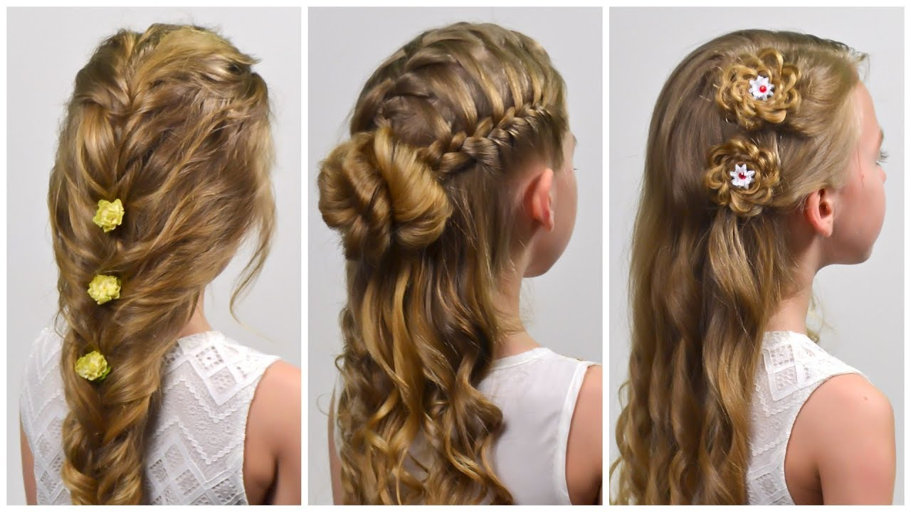 3 EASY Beautiful ELEGANT Hairstyles For PARTY/PROM