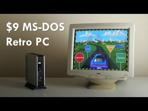 $9 DOS Retro Gaming PC With The HP T5530 Thin Client