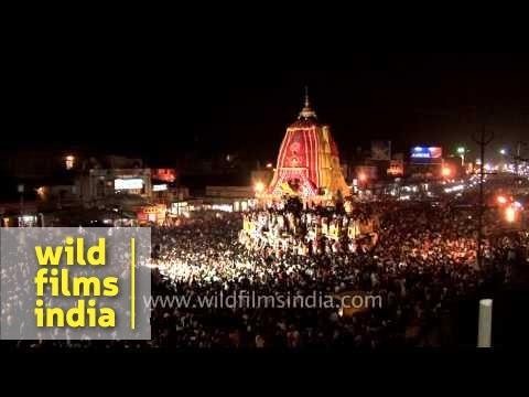 Jagannath Rath Yatra at night - Puri, Odisha