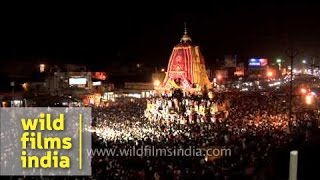 Jagannath Rath Yatra at night - Puri, Odisha