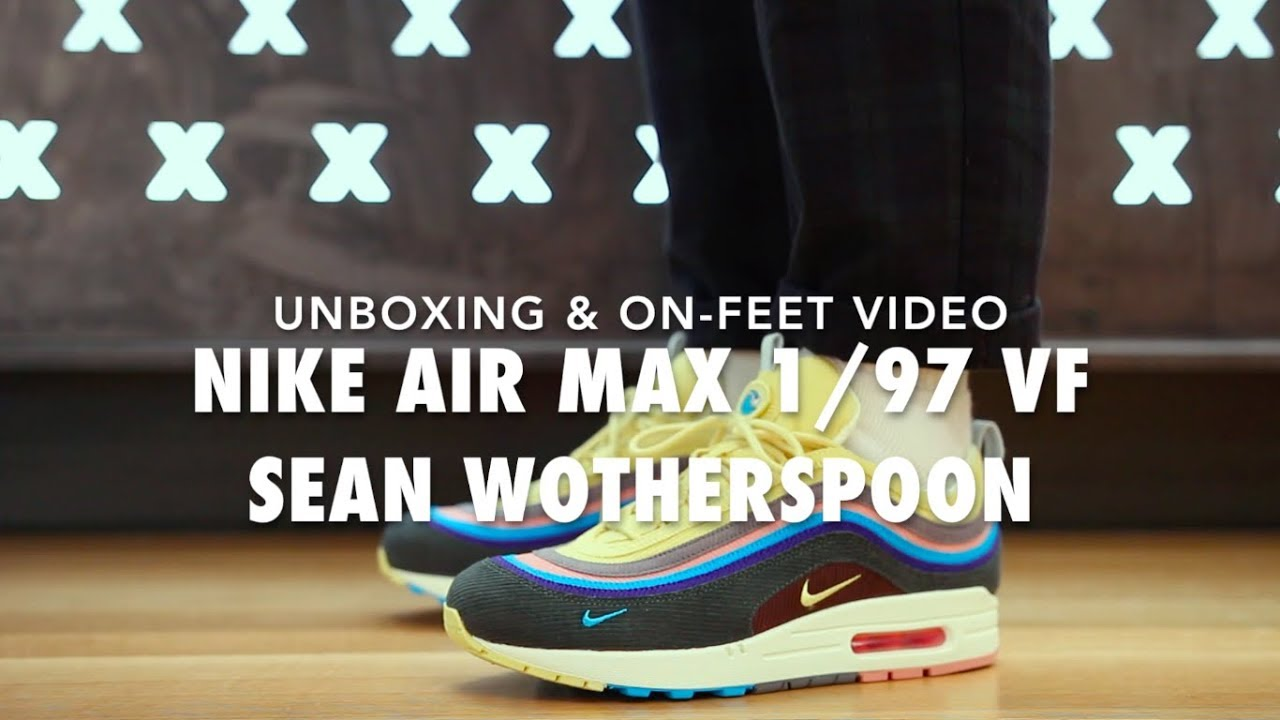 Nike Air Sobre Max 1  97 Vf Sean Wotherspoon Sobre Air Pies Unboxing Video 79b386