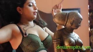 Beautiful Desi ( Pavi ) in B grade movie showing silky smooth soft armpits
