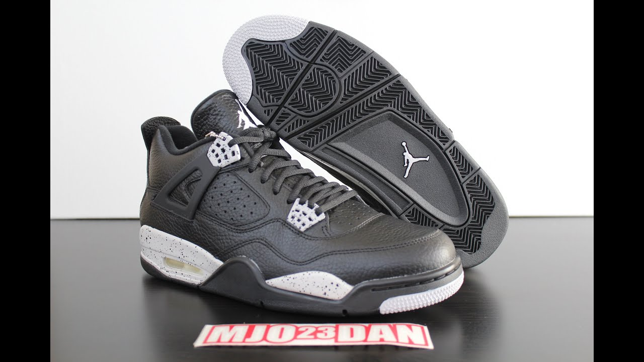 80209449b47d The 2015 Retro Air Jordan IV 4 Oreo - YouTube