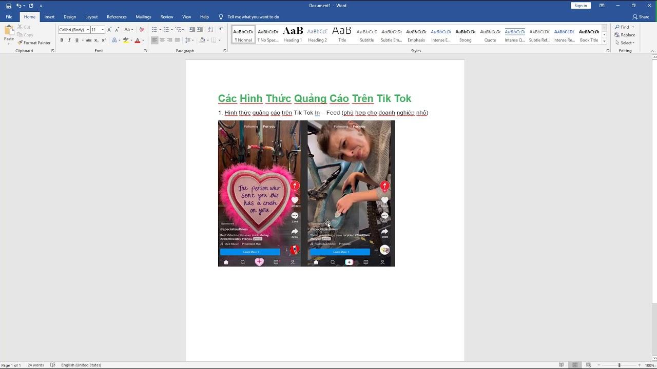 Bài 02: Các hình thức quảng cáo TikTok