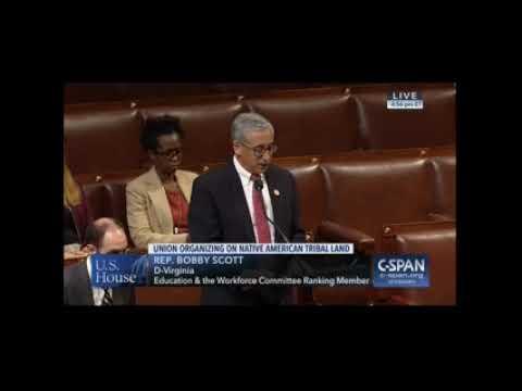 Ranking Member Scott Opposes the Tribal Labor Sovereignty Act