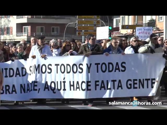 La marea blanca se manifiesta en Salamanca