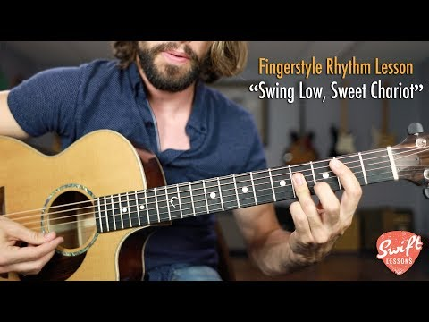 """Swing Low, Sweet Chariot"" Guitar Lesson - Fingerstyle Percussive Rhythm"