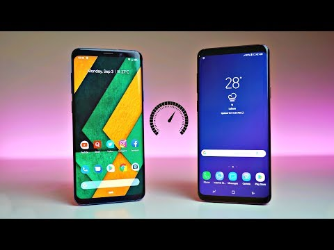 Samsung Galaxy S9 Plus Android 9.0 Pie (GSI) vs Android 8.1 Oreo (Experience 9.5 UI) - Speed Test!