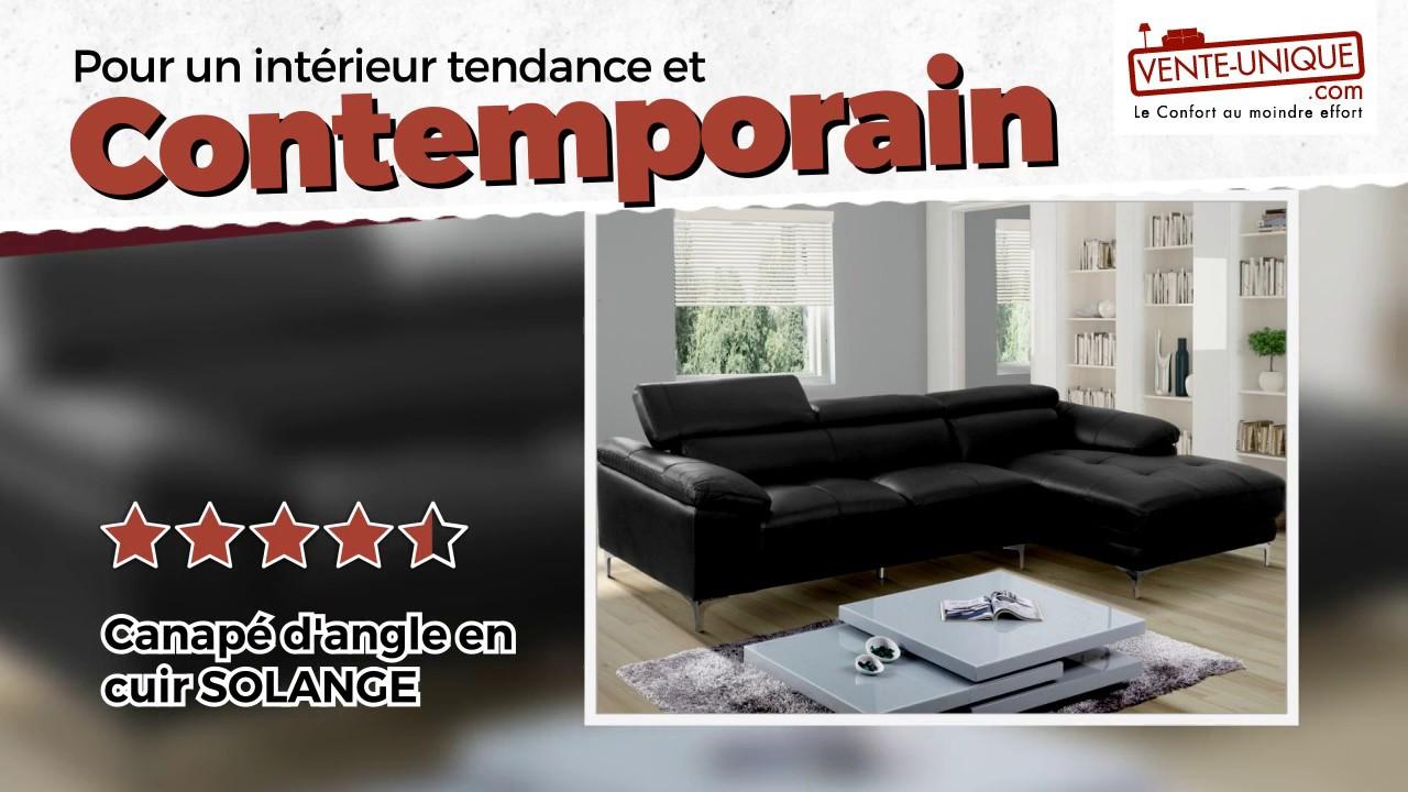 Changer La Couleur D Un Canapé En Cuir canapé d'angle solange en cuir