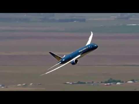 Boeing 787-9 Dreamliner prepares for the 2015 Paris Air Show 2015