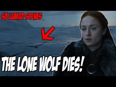 LEAKED The Lone Wolf Dies! Game Of Thrones Season 8 (Leaked Scenes)