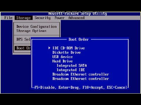 Windows7 setup | HP Laptop/computer bios setup and windows7 install by  hasib biswas bangla tutorial