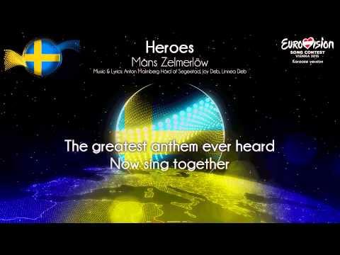"""Måns Zelmerlöw - """"Heroes"""" (Sweden) - [Karaoke version]"""