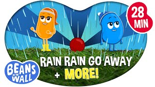 Rain Rain Go Away + More! | Compilation | Kids Songs | Beans in the Wall