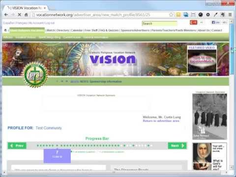 For VISION Advertisers--Part II: How to edit your community's Vocation Match profile