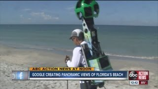 Google Maps Street View cameras on Tampa Bay area beaches to help increase tourism in Florida Free HD Video