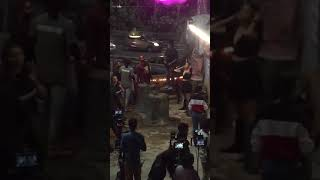 Ranbir Kapoor and Alia Bhatt on the sets of Brahmāstra