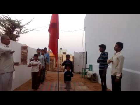 Little child in Rashtriya swayam sevak sangh RSS prarthana
