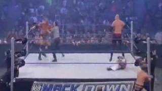 Rey Mysterio and Batista vs Chris Jericho and Kane 23 10 09