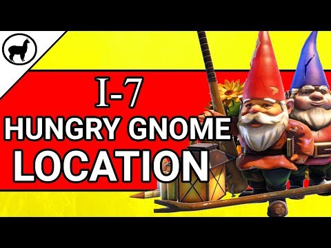 I-7 Hungry Gnome Location | Fortnite Battle Royale | Season 4 Week 8 Search Hungry Gnomes