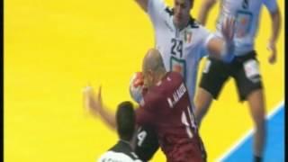 ثاني ربع ساعة بالشوط الثاني مباراة مصر وقطر بمونديال اليد بفرنسا