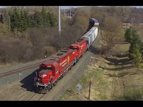 Drone View| Canadian Pacific #3131 On The MN&S