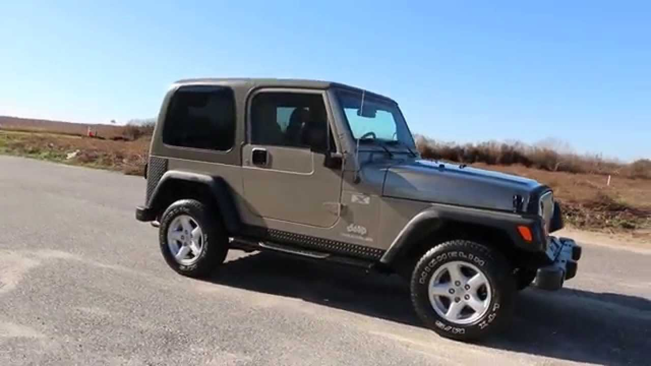 High Quality 2004 Jeep Wrangler X For Sale~Garaged Kept~Super Clean~2 Tops~Alloys~MINT!