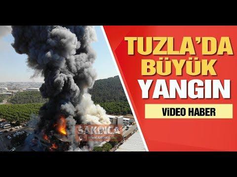 Tuzla'da fabrikada büyük yangın