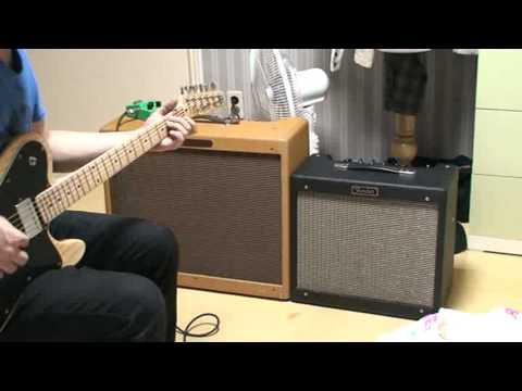 fender 57 twin amp & fender blues jr (amp sound test)
