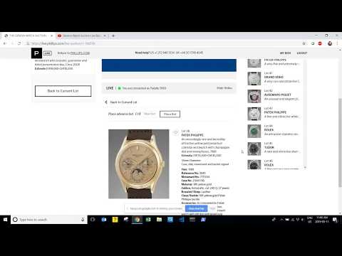 Geneva Watch Auction Live Bidding/Commentary