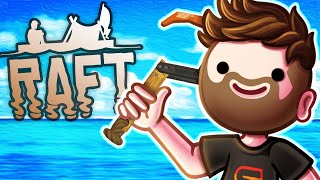 5 IDIOTS STRANDED ON A RAFT! - Raft with The Crew! - Season 3 Episode 1