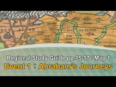 """Event 1 Abraham's Journeys - Equiptoserve """"Regional Study Guide"""" Map #1 Marking Assignment"""