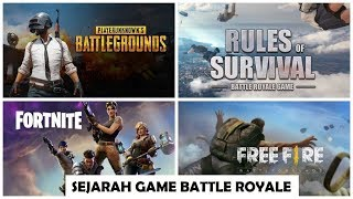 Sejarah Jeu Bataille Royale (H1Z1, PUBG, Fortnite, Free Fire, Rules of Survival, Ring of Elysium,dll)