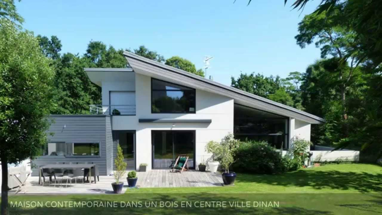 Vente maison d 39 architecte dinan centre ville youtube for Architecte maison