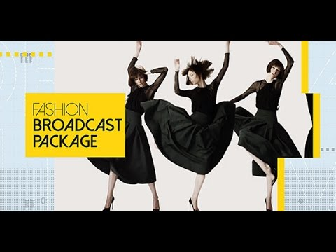 Fashion Broadcast Package After Effects Project Videohive Template
