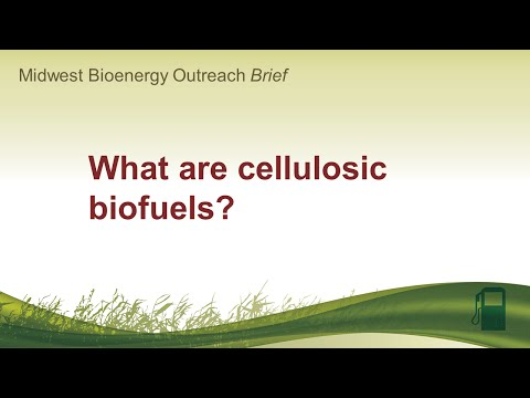 What are cellulosic biofuels?